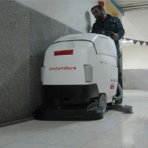 icu & ccu cleaning with nobac scrubber زمین شوی اورژانس و مراقبت ویژه