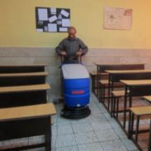 floor-scrubber-dryer-for-school-cleaning  شستشوی کف مراکز آموزشی با اسکرابر صنعتی