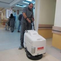 small scrubber کف شوی درمانگاه ها