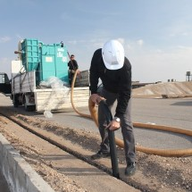 municipal services industrial vacuum cleaner خدمات نظافت شهری با مکنده صنعتی