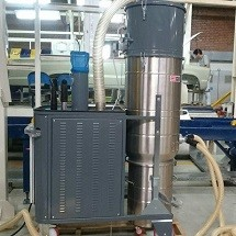 central vacuum polishing line مکنده صنعتی در پولیش زنی خودرو