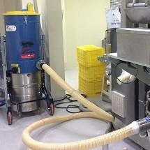 transfer pharmaceuticals industrial vacuum انتقال مواد با جاروبرقی صنعتی