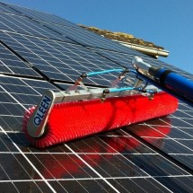 solar cleaning with water cleaning system شستشوی پنل خورشیدی با دستگاه نماشوی