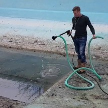 drainage water and mud pools high pressure تخلیه آب و لجن استخر با واترجت صنعتی