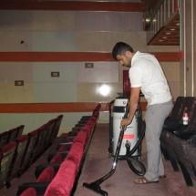 cleaning cinema and amphitheater نظافت سالن سینما و آمفی تئاتر
