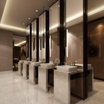 cleaning restroom شستشوی سرویس بهداشتی با اسپری مکش
