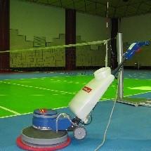 tatami cleaning polisher شستشوی تاتامی سالن ورزشی با پولیشر