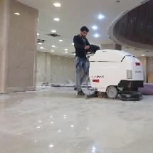 nobac scrubber dryer hotel cleaning نظافت هتل با اسکرابر آنتی باکتریال