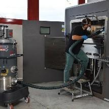 3d printer vacuum cleaner نظافت پرینتر سه بعدی با جاروبرقی صنعتی