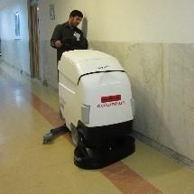 aged care home floor scrubber نظافت آسایشگاه سالمندان با اسکرابر آنتی باکتریال