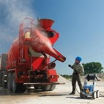 concrete mixer pressure washer شستشوی میکسر بتن با واترجت صنعتی