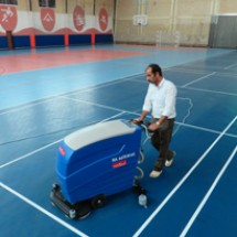sports-hygiene-scrubber-system شستشوی سطوح کف سالن ورزشی