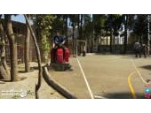 سویپر سرنشیندار نظافت مدرسه محوطه موزه کتابخانه کف
