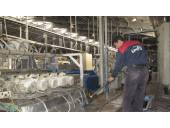 شستن موتور نظافت موتور های کارخانه های کاشی،سرامیک