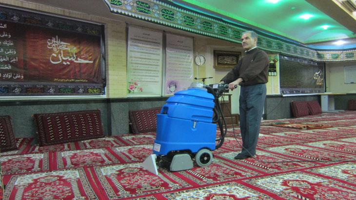 فرش و موکت شوی مساجد، دستگاه فرش و موکت شوی اماکن مذهبی