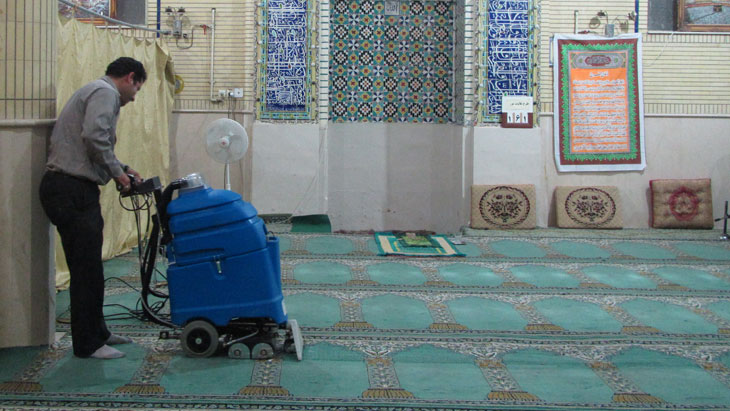 دستگاه مبل و موکت شوی مساجد، مبل شوی مساجد