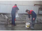 سند بلاست با آب یک عملیات لایه بردار